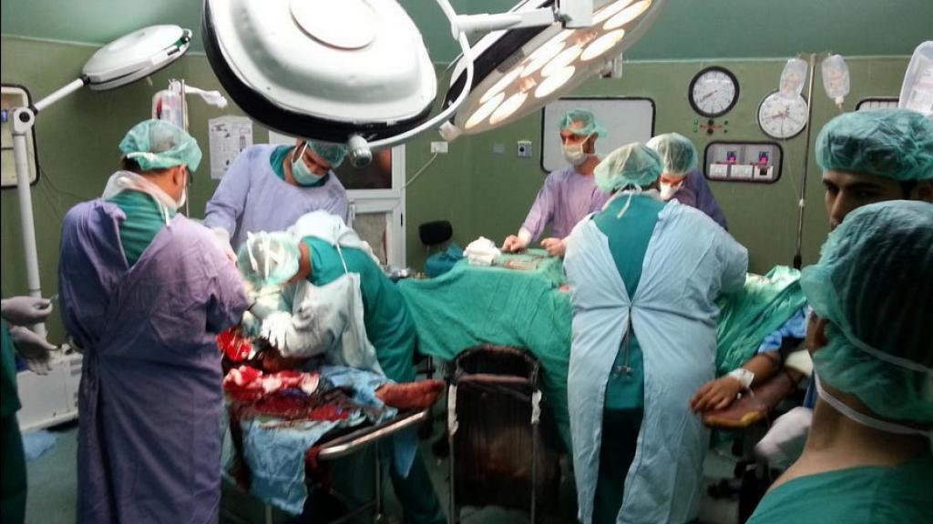 Una sala operatoria dell'opedale al Shifa di Gaza city
