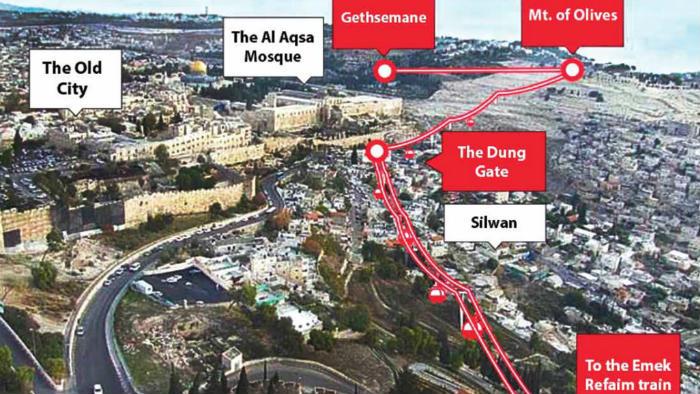 Il progetto della funivia a Gerusalemme