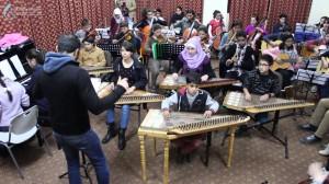 Lezione al Conservatorio Edward Said di Ramallah