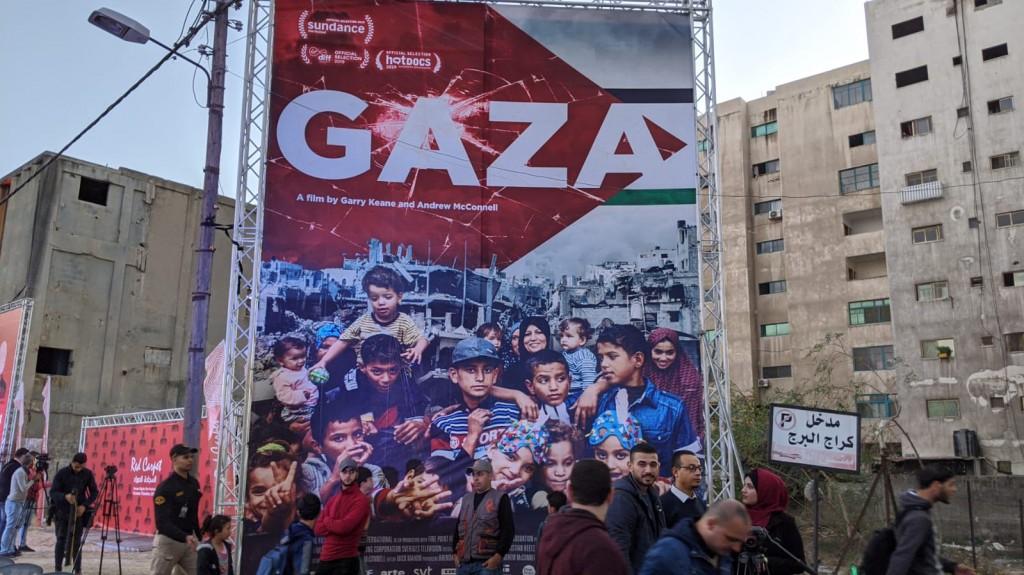 """Il  film """"Gaza"""" ha aperto ieri il Red Carpet Film Festival (foto di Michele Giorgio)"""