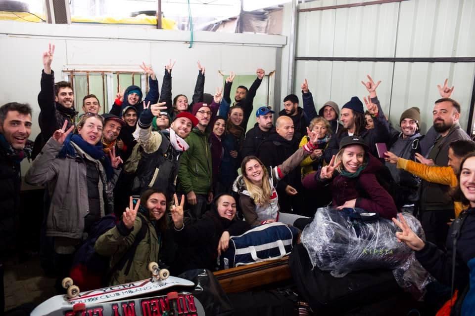 La carovana italiana all'arrivo a Gaza