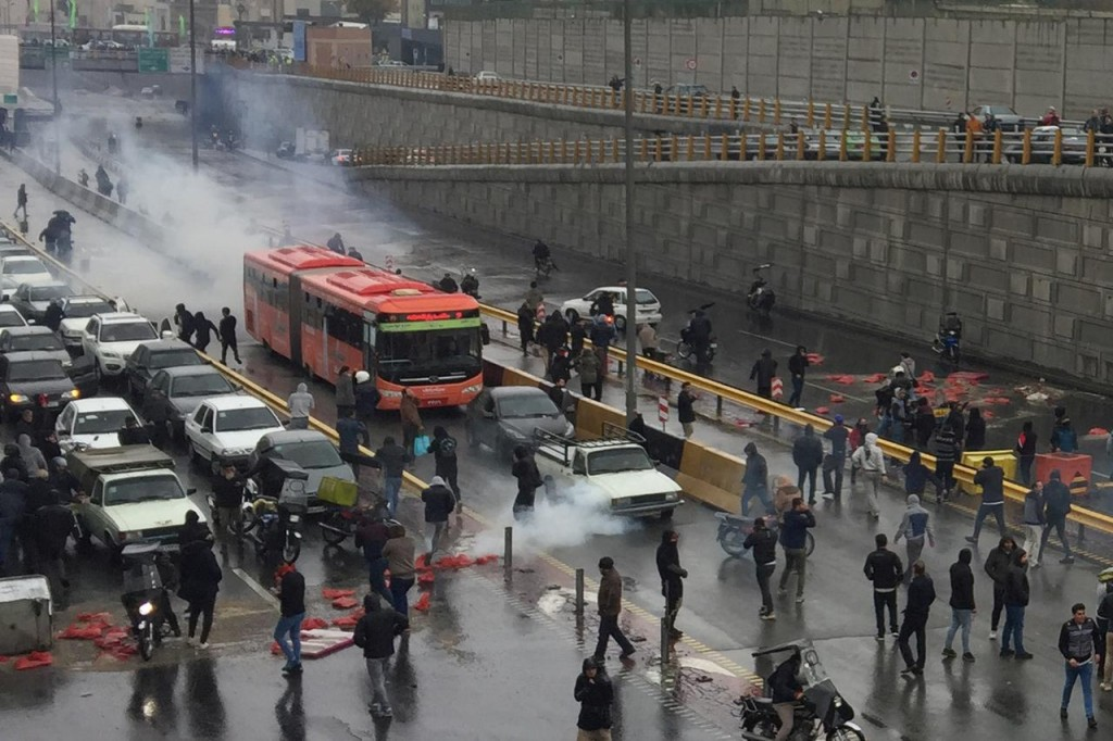Protests in Iran. (Foto: Reuters)