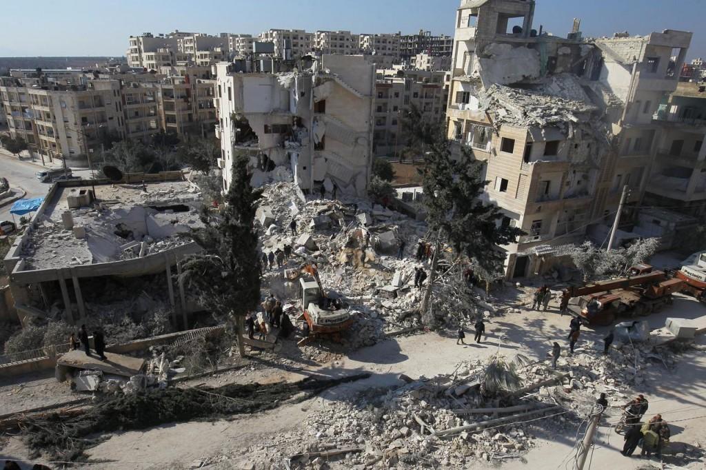 Idlib nel 2017 (Foto: Reuters)