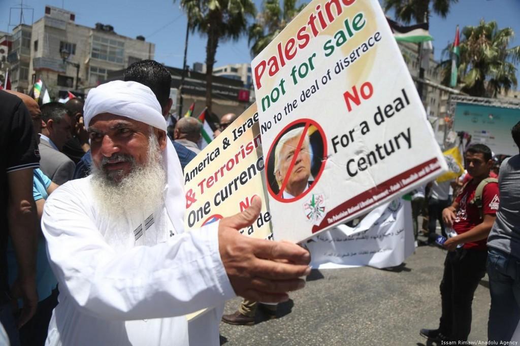 Protesta a Ramallah (Foto: Anadolu Agency)