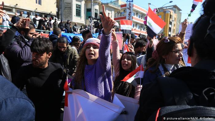 Donne ieri nelle strade di Baghdad (Foto: AA/M. al Sudani)