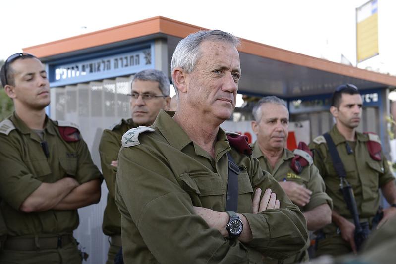 Benny Gantz, all'epoca capo di stato maggiore dell'esercito israeliano