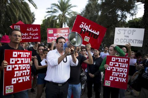 Ayman Odeh, leader della Lista Araba Unita (Foto: Reuters)
