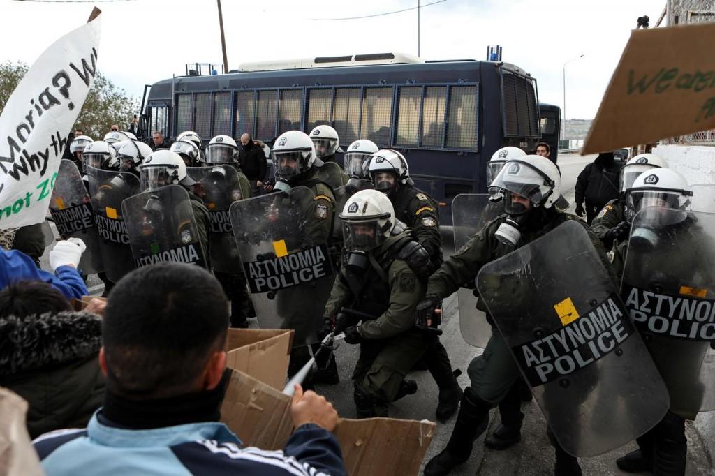 Rifugiati in Grecia. (Foto: Reuters)
