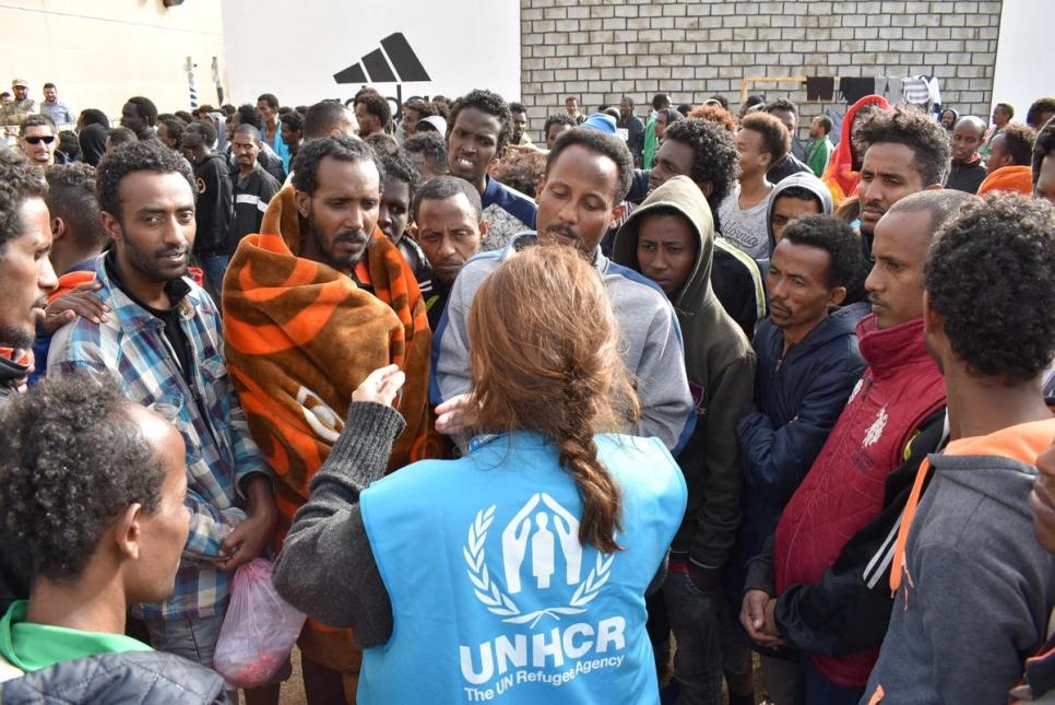 Il centro libico di detenzione per migranti di Triq Al Sikka (Foto: UNHCR/Sufyan Said)