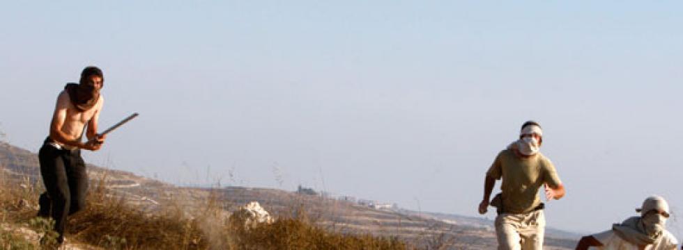 Coloni israeliani (foto B'Tselem)