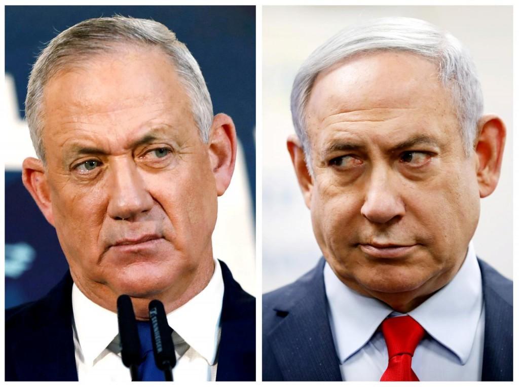 Da sinistra a destra: Benny Gantz e Benjamin Netanyahu. (Foto: Reuters)