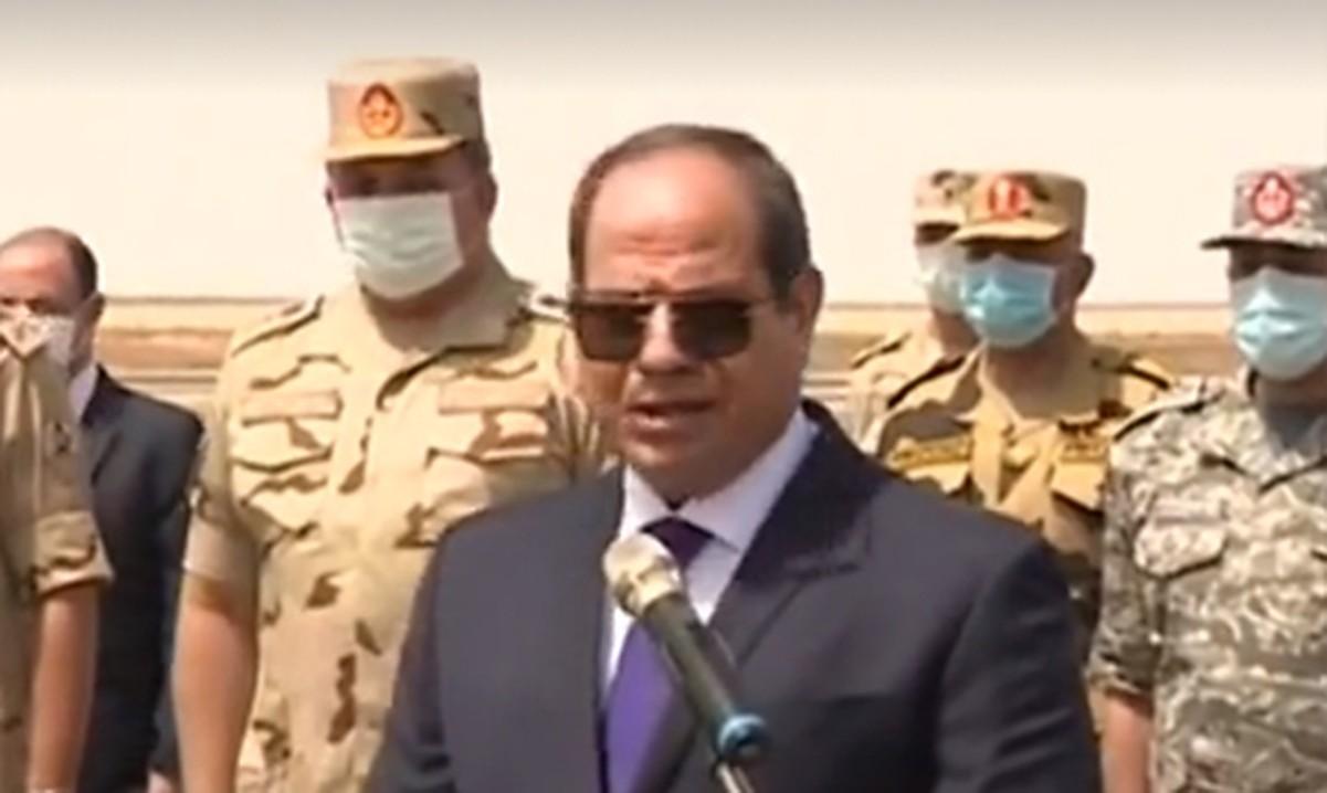 Il presidente al-Sisi sabato (Foto tratta dal portale Egyptian Streets)