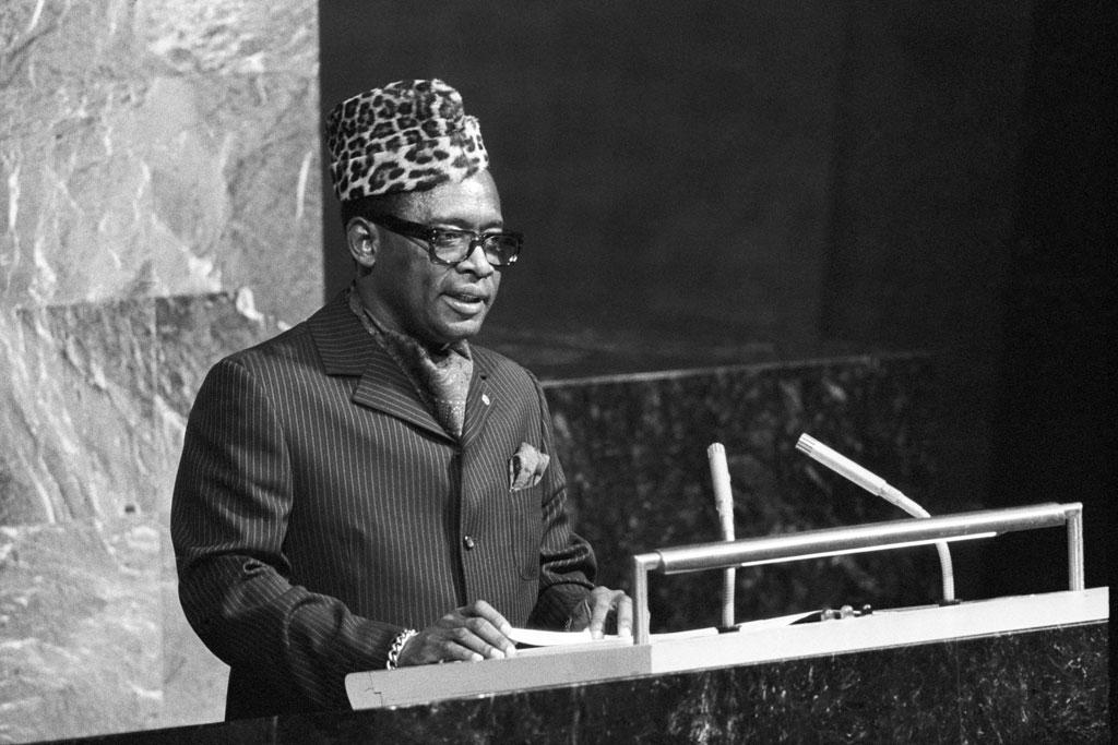 Mobutu Sese Seko all'Onu