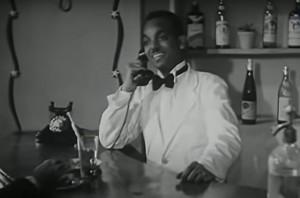 """Una comparsa anonima nubiana nel film """"Una pallottola al cuore"""" (Rosasa fi al-kalb) del 1944"""