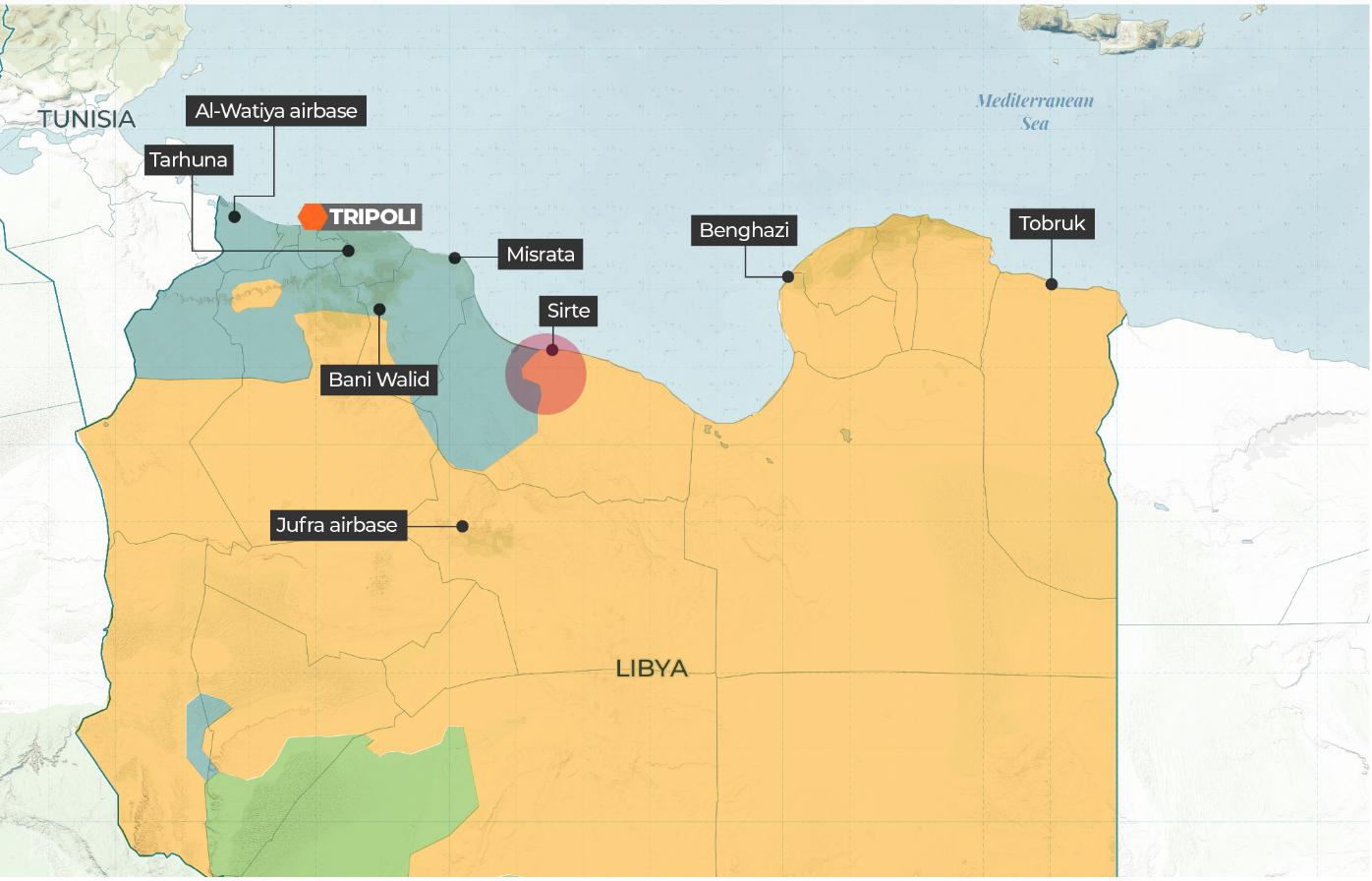 Mappa tratta dal sito di al-Jazeera