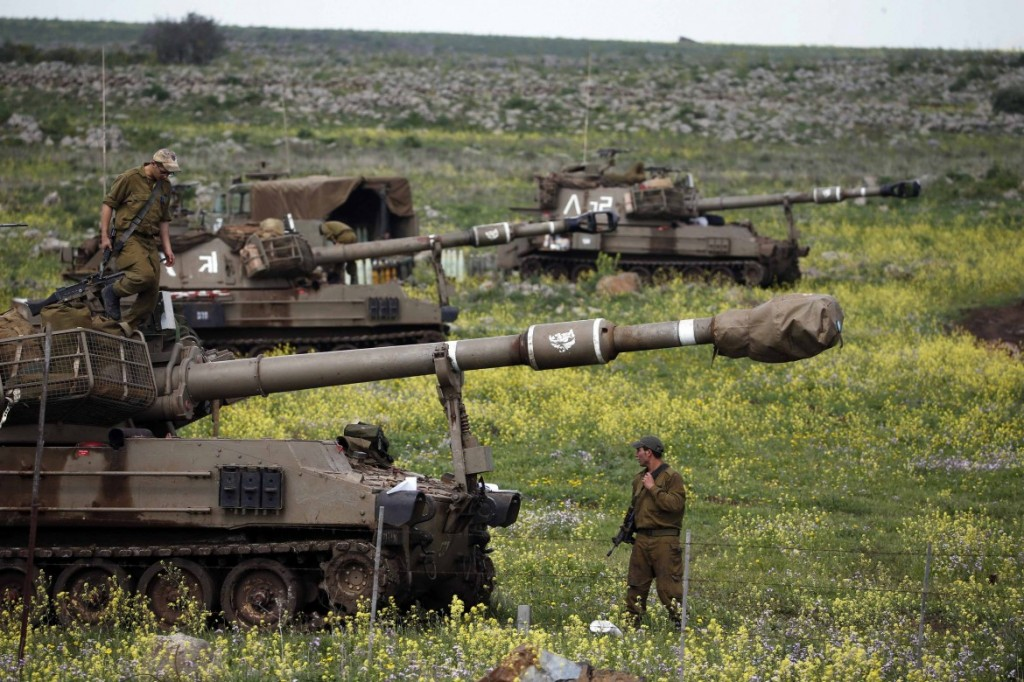 Carro armato israeliano nel Golan