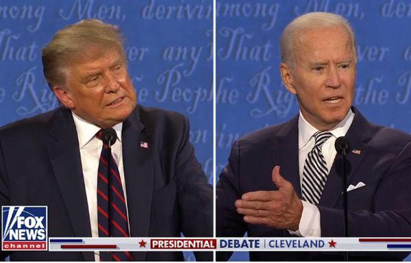 Il presidente Usa Trump (a sinistra) e lo sfidante democratico Biden