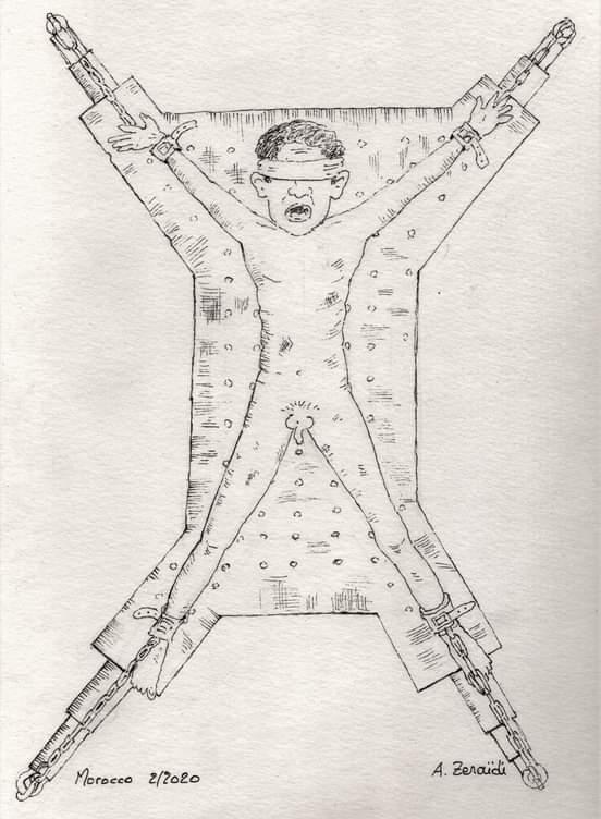 Le torture praticate nelle carceri marocchine nel disegno di un ex detenuto