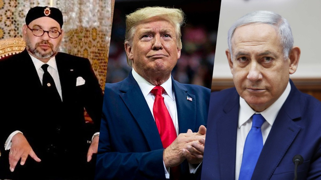 Re Mohammed VI, Donald Trump e Benjamin Netanyahu