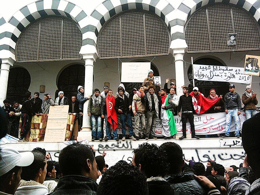 Nella Kasba di Tunisi, gennaio 2011 (Foto: Wikimedia Commons)