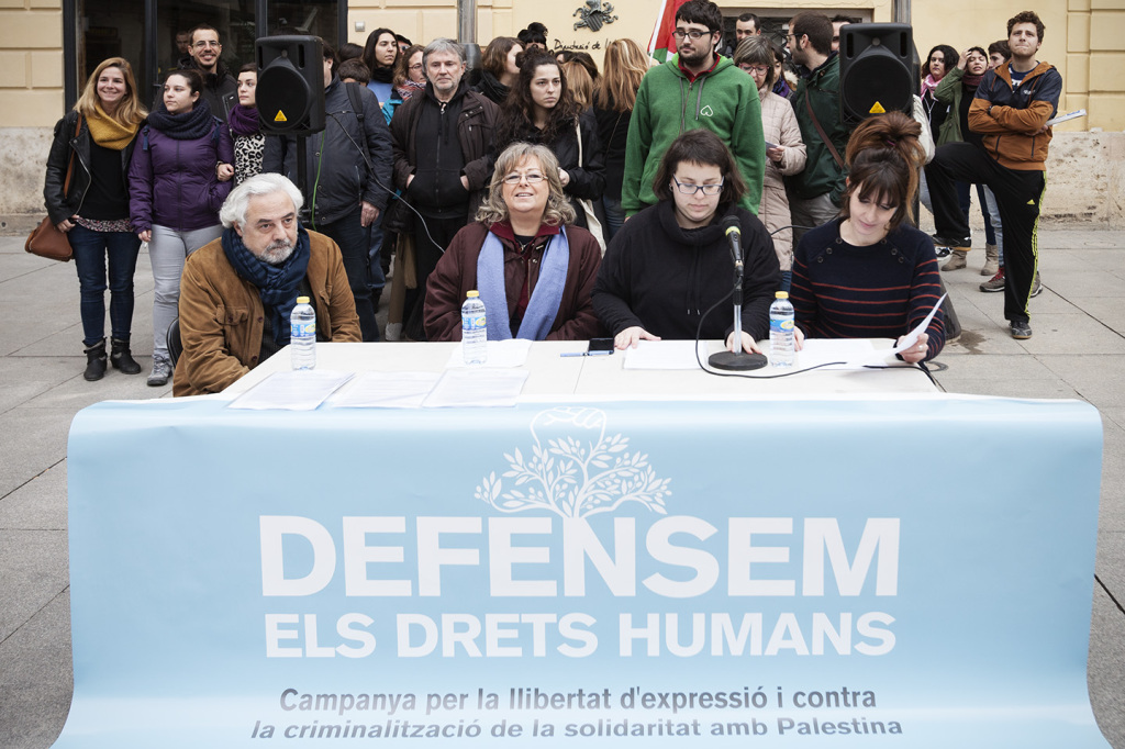 La campagna Defensem els Drets Humans a Valencia nel 2017 (Fonte: Diretta)