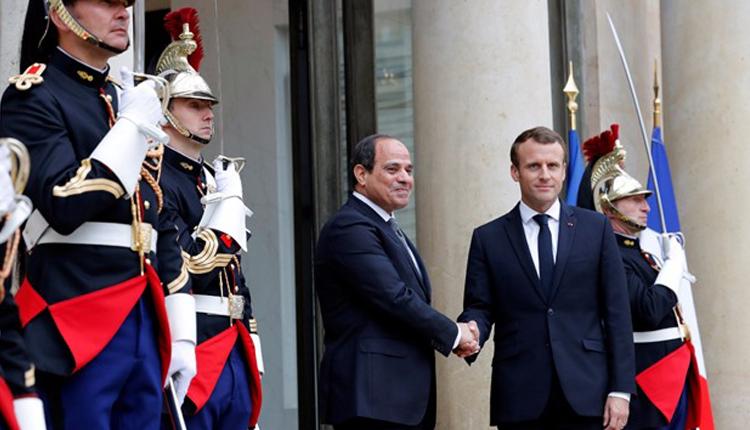 Al-Sisi all'Eliseo con Macron, lo scorso dicembre (Fonte: Amwal Al-Ghad)