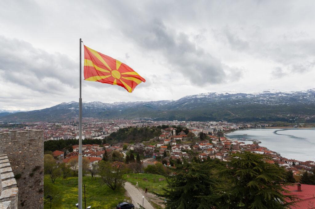 La bandiera della Macedonia del Nord (Foto: CreativeCommons)