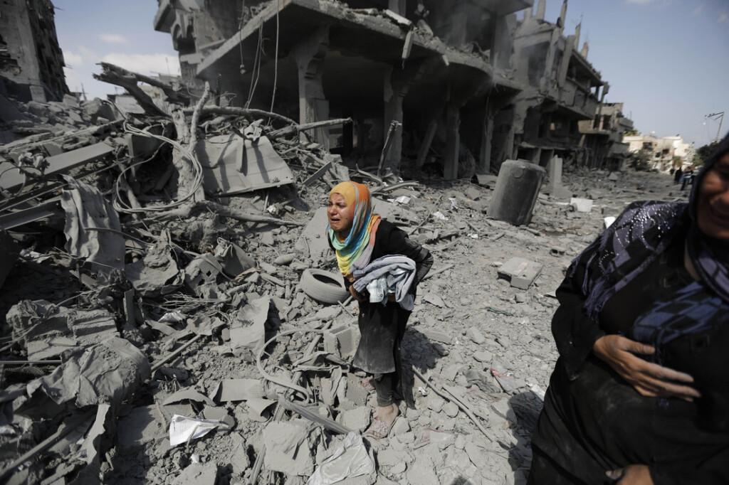 Macerie a Gaza, durante l'offensiva militare Margine Protettivo lanciata da Israele nell'estate del 2014 (Foto: Oxfam)