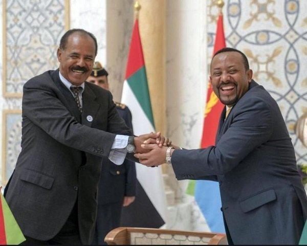 Il presidente eritreo Afewerki e il premier etiope Abiy Ahmed