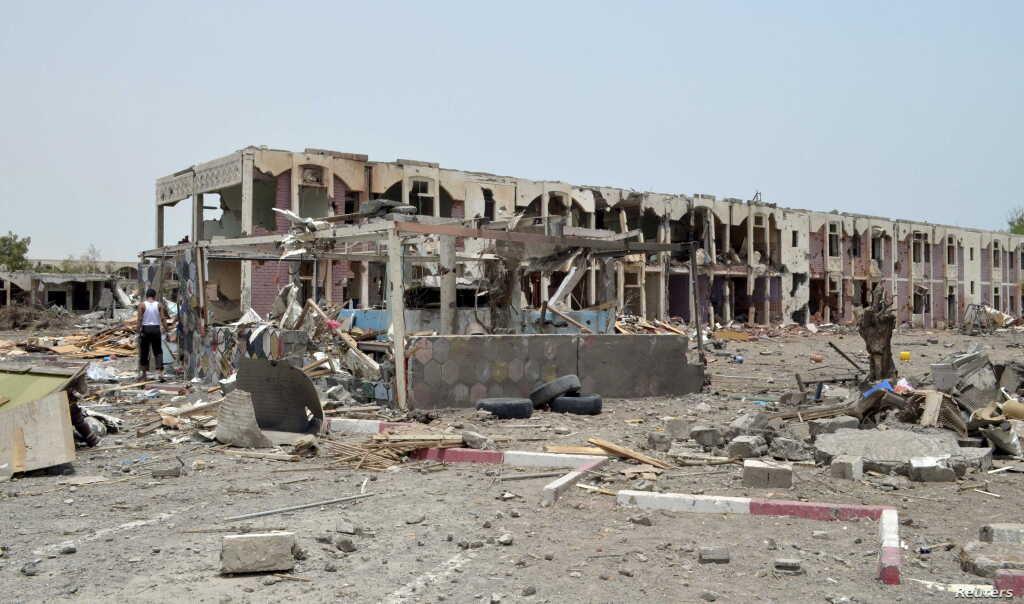 Effetti di un bombardamento saudita in Yemen