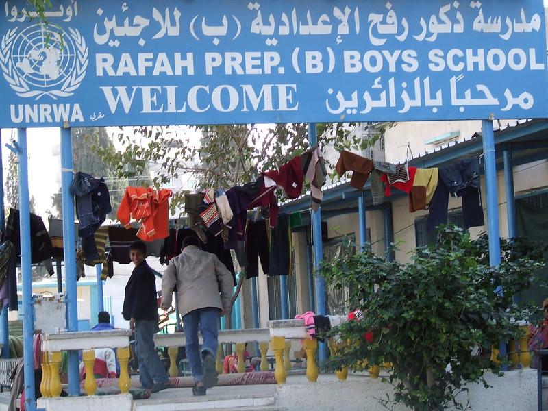 La scuola Unrwa di Rafah, nella Striscia d Gaza (Foto: Ism)
