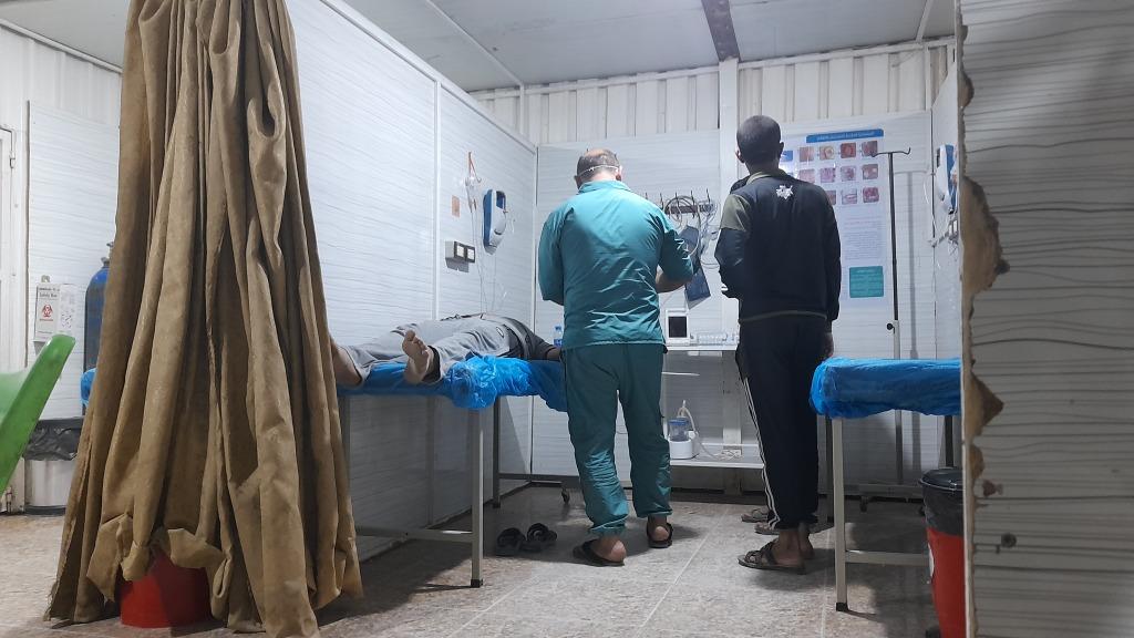 La clinica del campo di al-Hol, Rojava (Foto: Chiara Cruciati)