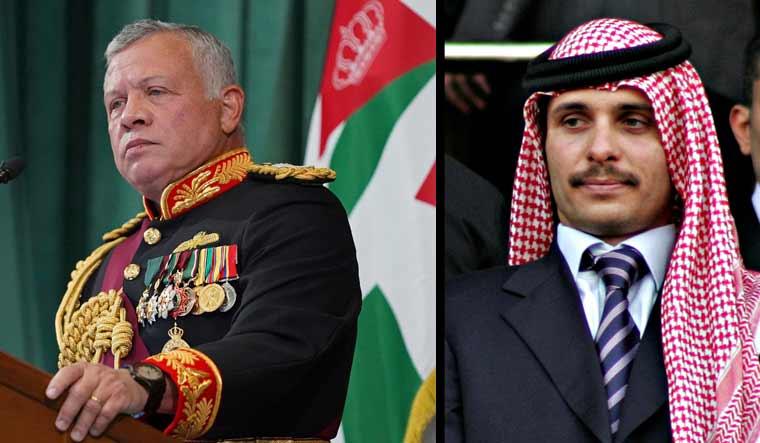 Re Abdallah e il principe Hamza di Giordania