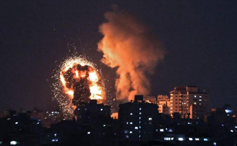 Gaza sotto attacco israeliano (Foto d'archivio)