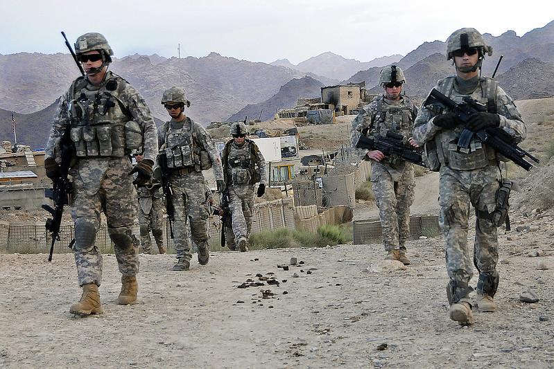 Soldati Usa nella base di Baylough, in Afghanistan (Fonte: US Army)